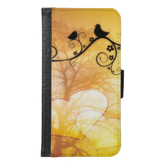 Two birds resting in a tree Galaxy S6 Wallet Case