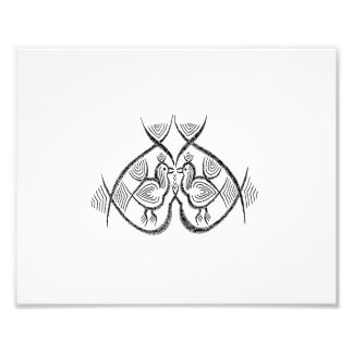 Two birds standing vintage jagged sketch.png photo