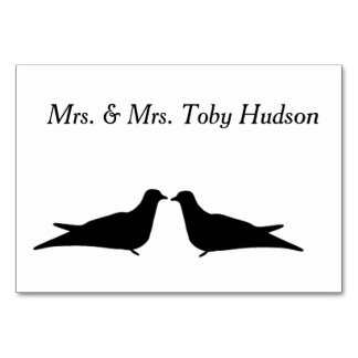Two Birds Table Card