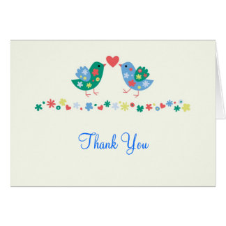 Two Birds Thank You Card