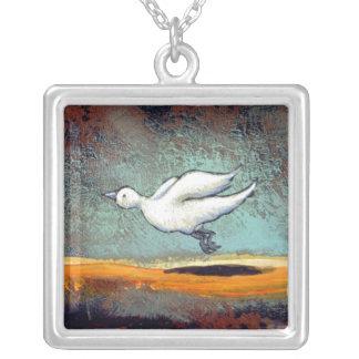 Two Birds - unique emotional bird relationship art Custom Necklace
