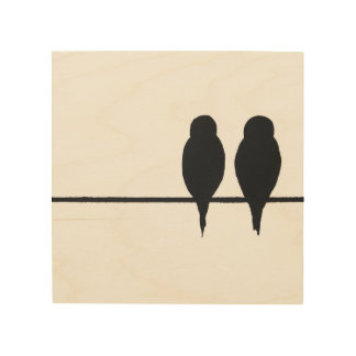 Two Birds Wood Wood Wall Art