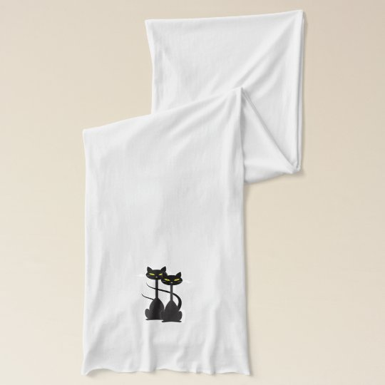 Two Black Cats Scarf