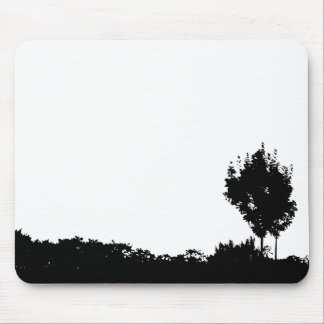Two Black Trees Mouse Pad