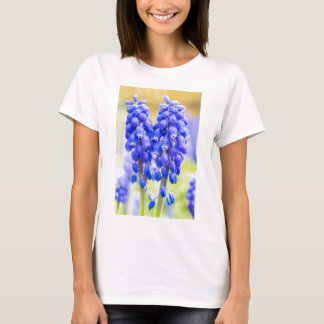 Two blue grape hyacinths in spring T-Shirt