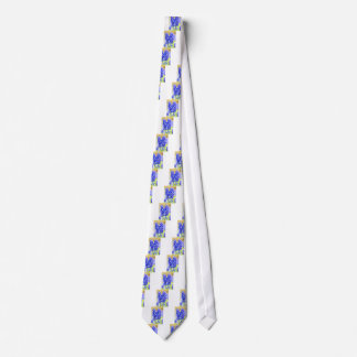 Two blue grape hyacinths in spring tie
