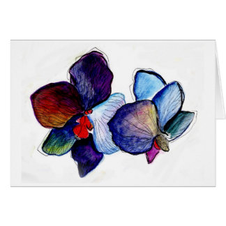 Two BlueOrchids Card