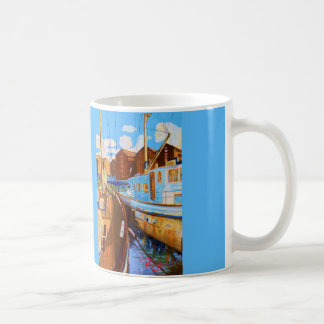 Two boats moored at Gloucester Docks England Coffee Mug