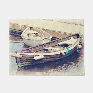 Two Boats Nautical Door Mat