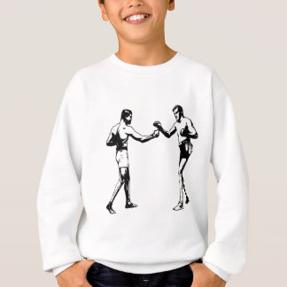 Two Boxers, Boxing Match, Fighting, Vintage Sports Sweatshirt