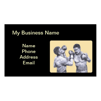 Two Boxers in a Fight Business Card