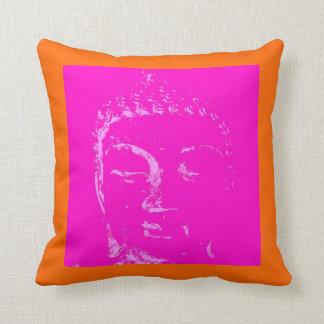 Two Branching Out pink/orange buddha pillow