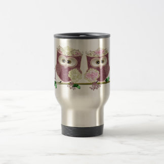 Two Brides Wedding Owls Art Gifts 15 Oz Stainless Steel Travel Mug