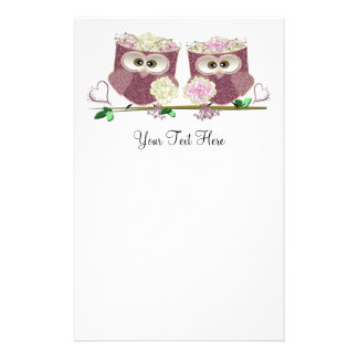 Two Brides Wedding Owls Art Gifts Stationery Design