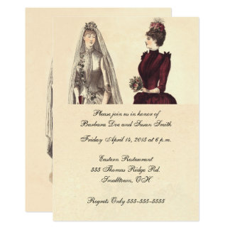 Two Brides Wedding Vintage Card