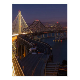 Two Bridges San Francisco–Oakland Bay Bridge Postcard