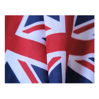 two British flags postcard