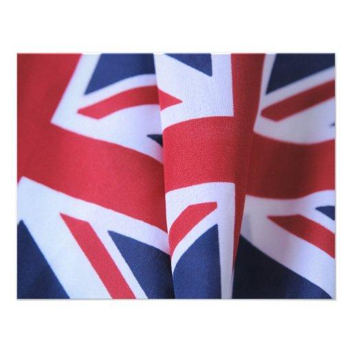 two British flags small invitation