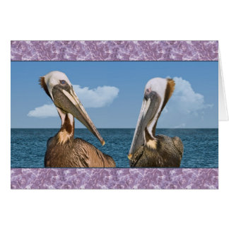Two Brown Pelican in Profile All-purpose Card