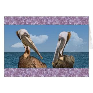 Two Brown Pelican in Profile All-purpose Card