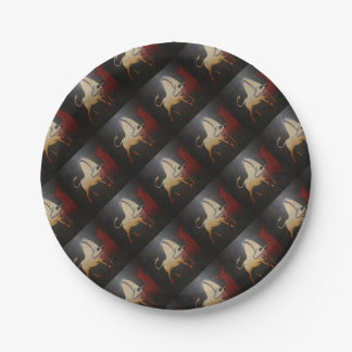 Two Bulls Fighting Paper Plate