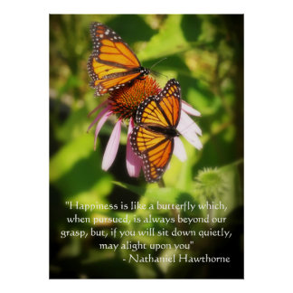 Two Butterflies Quote Poster