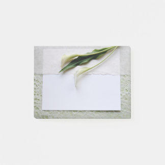 Two calla lilies post-it notes