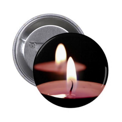 Two candles pinback button