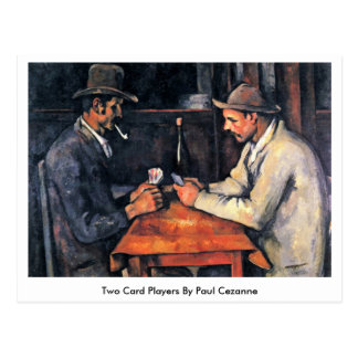 Two Card Players By Paul Cezanne
