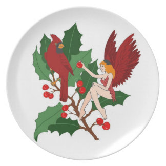 Two Cardinals/The Season for Giving!Plate Plate