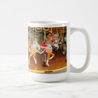 Two Carousel Horses Seattle Zoo Coffee Mug