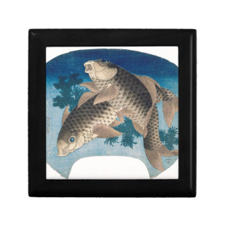 Two carps by Katsushika Hokusai Gift Box
