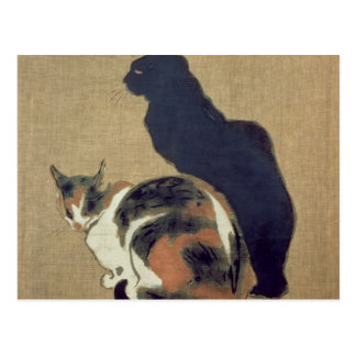Two Cats, 1894 Postcard