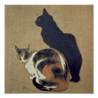Two Cats, 1894 Poster