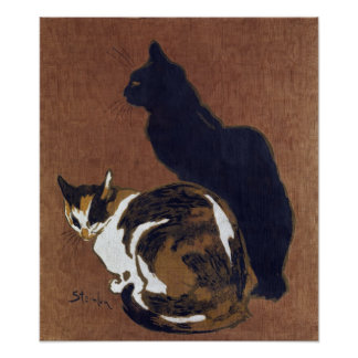 Two Cats, Alexandre Steinlen Poster