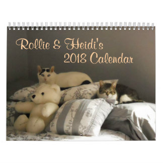 Two Cats are Best Friends For Life Calendar