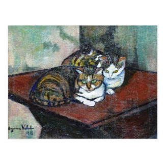Two cats by Suzanne Valadon Postcard