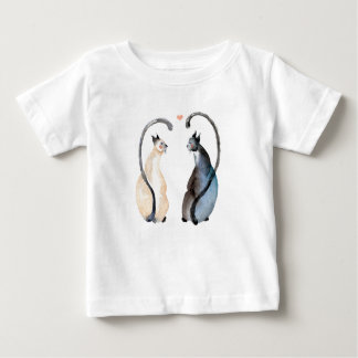 Two Cats in Love Baby T-Shirt