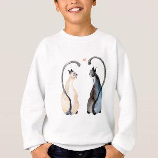 Two Cats in Love Sweatshirt