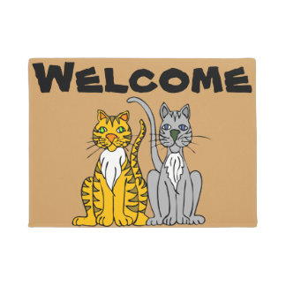 Two Cats Welcome Mat