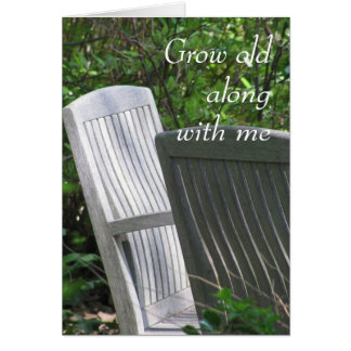 Two Chairs -- Grow Old With Me Card