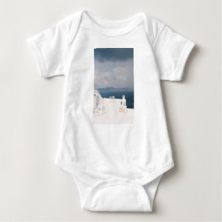 Two chairs on Santorini island Baby Bodysuit