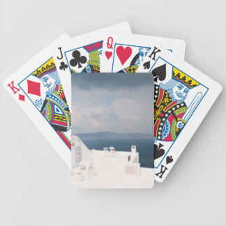 Two chairs on Santorini island Bicycle Playing Cards
