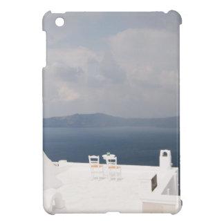 Two chairs on Santorini island Cover For The iPad Mini