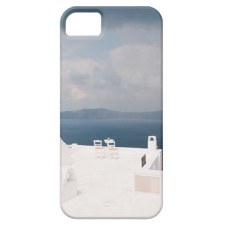 Two chairs on Santorini island iPhone 5 Case
