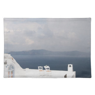 Two chairs on Santorini island Placemat