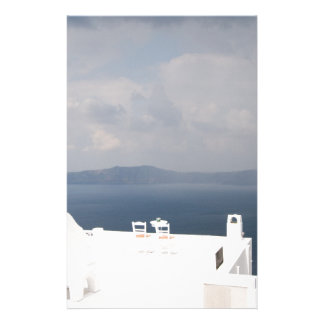 Two chairs on Santorini island Stationery