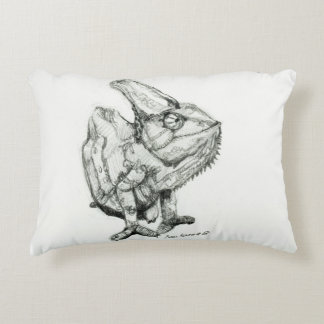 Two Chameleons, Derpy and Sleepy, Double Sided Decorative Pillow