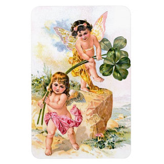 Two Charming Butterfly Children Magnet