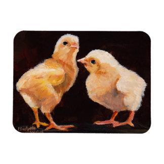 Two Chick Original Art Magnet